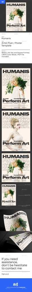 Flyers PSD – Humanis Swiss Vogue Artist Flyer / Poster Template – Download