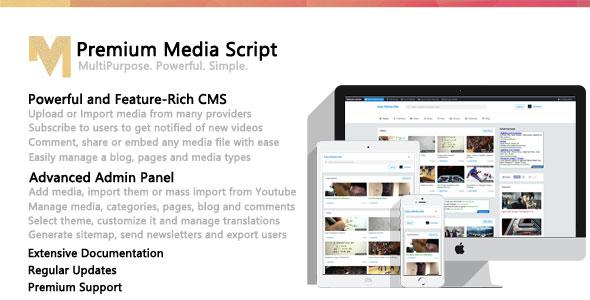 Top class Media Script – PHP Script Download