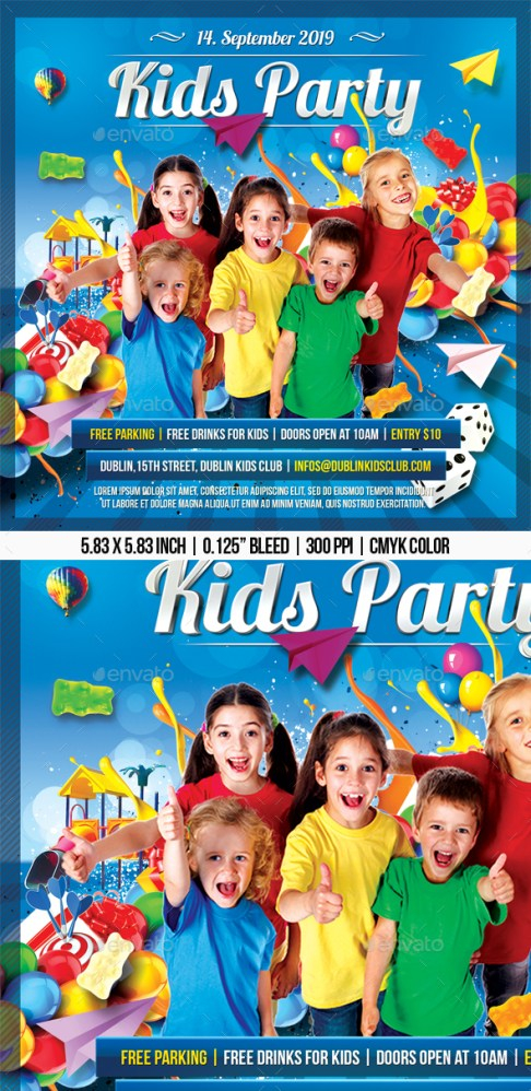 Flyers PSD – Childhood Event – Download