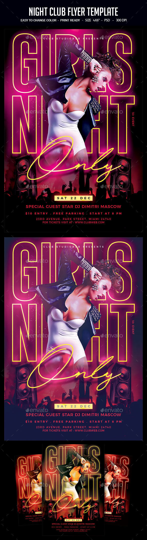 Flyers PSD – Night Club Flyer Template – Download