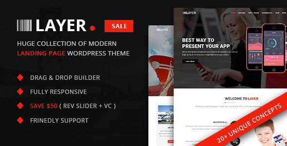 Layer –  SaaS & Startup Landing Internet page WordPress Theme – WP Theme Download