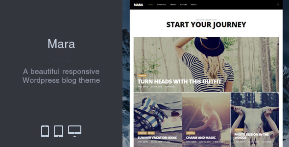 Mara – Ultimate Thunder WordPress Blog Theme – WP Theme Download