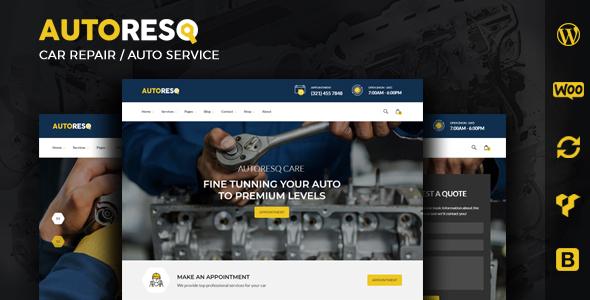 Autoresq – Automobile Repair WordPress Theme – WP Theme Download