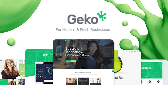 Geko – Startup WordPress Theme – WP Theme Download