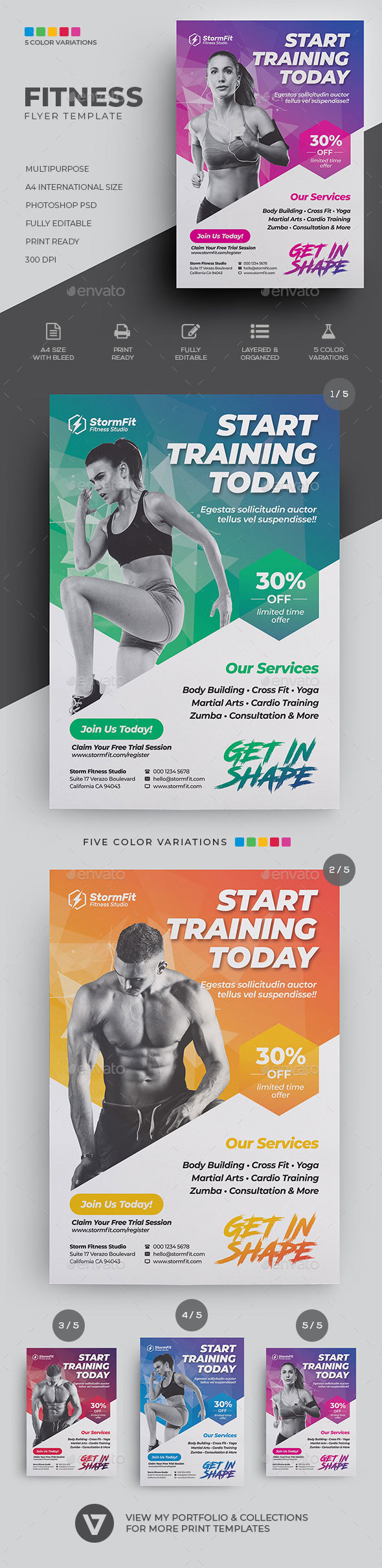 Flyers PSD – Fitness Flyer – Download