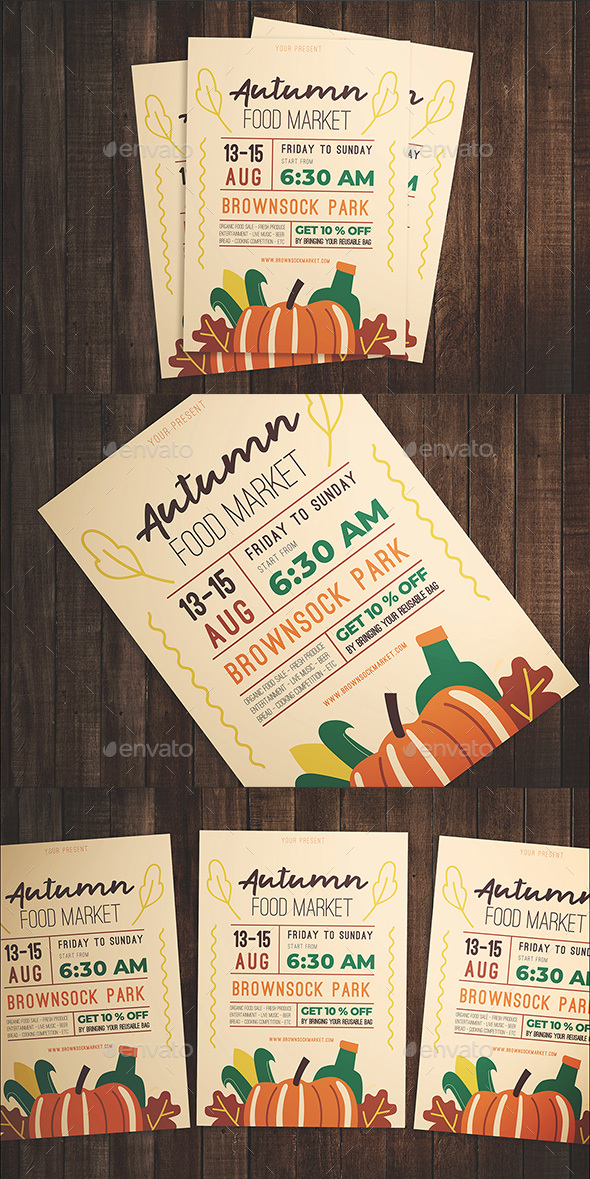 Flyers PSD – Autumn Food Festival Flyer – Download