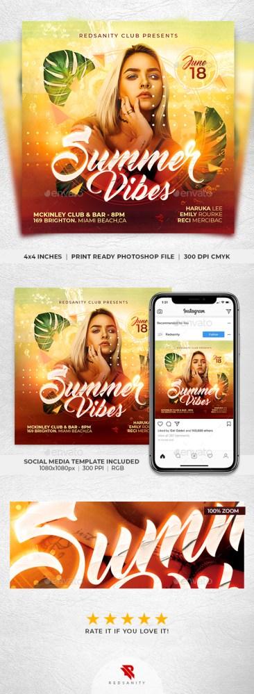 Flyers PSD – Summer season Vibes Flyer – Download