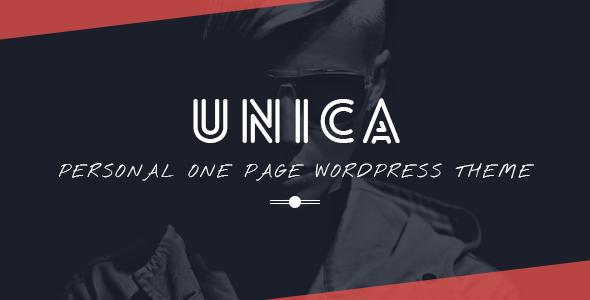 Unica – Personal Resume and Portfolio Theme – WP Theme Download