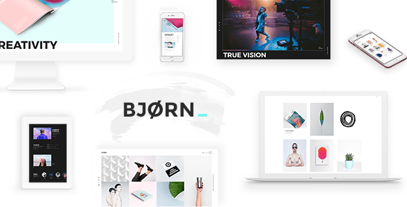 Bjorn – Inventive Company & Freelancer Portfolio Theme – WP Theme Download