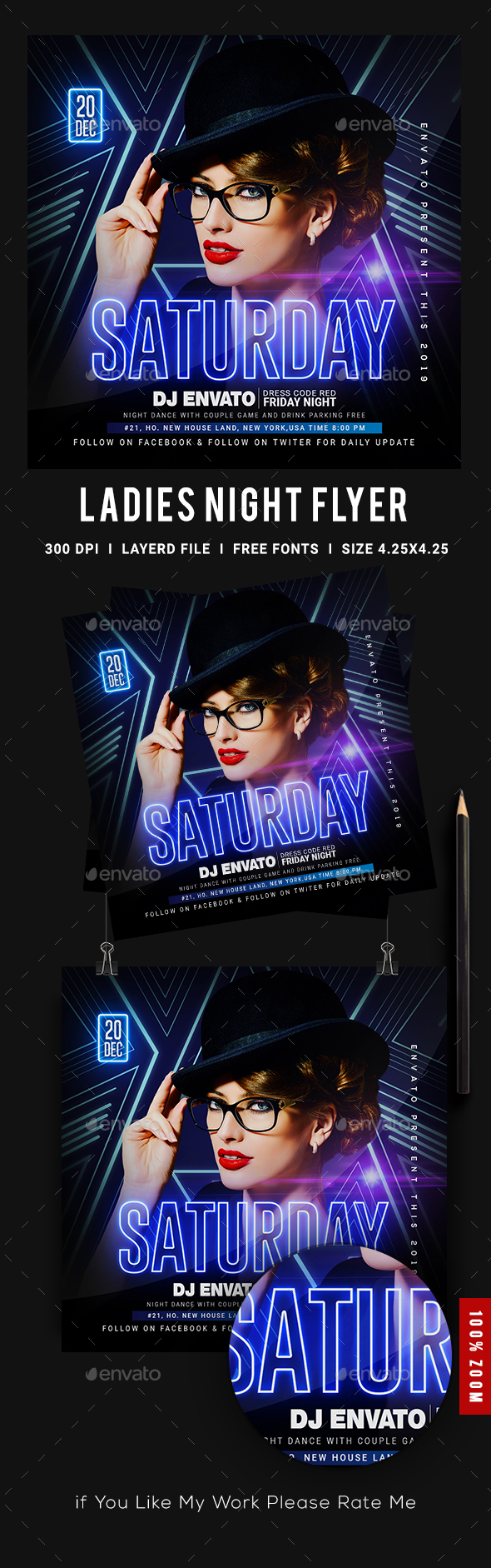 Flyers PSD – Club Event Flyer – Download