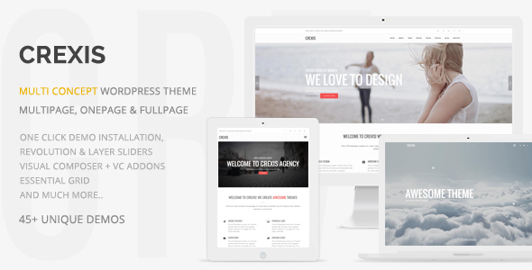 Crexis – Responsive Multi-Reason WordPress Theme – WP Theme Download