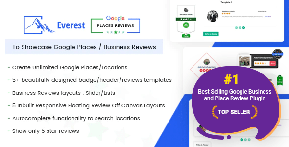 Everest Google Locations Evaluations – Most good WordPress Plugin To Showcase Google Locations / Substitute Evaluations – PHP Script Download