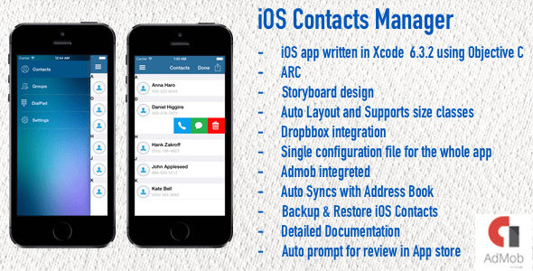 iOS Contacts Supervisor – PHP Script Download