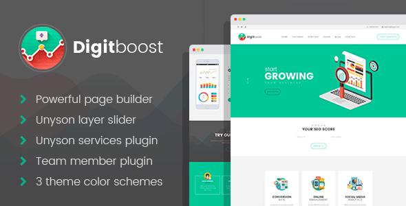 DigitBoost – Digital Marketing and marketing & Web squawk positioning Agency WordPress theme – WP Theme Download