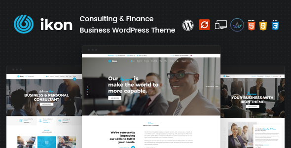 Ikon – Consulting WordPress Theme – WP Theme Download