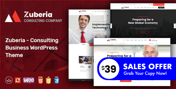 Zuberia – Industry Consulting Services WordPress Theme – WP Theme Download