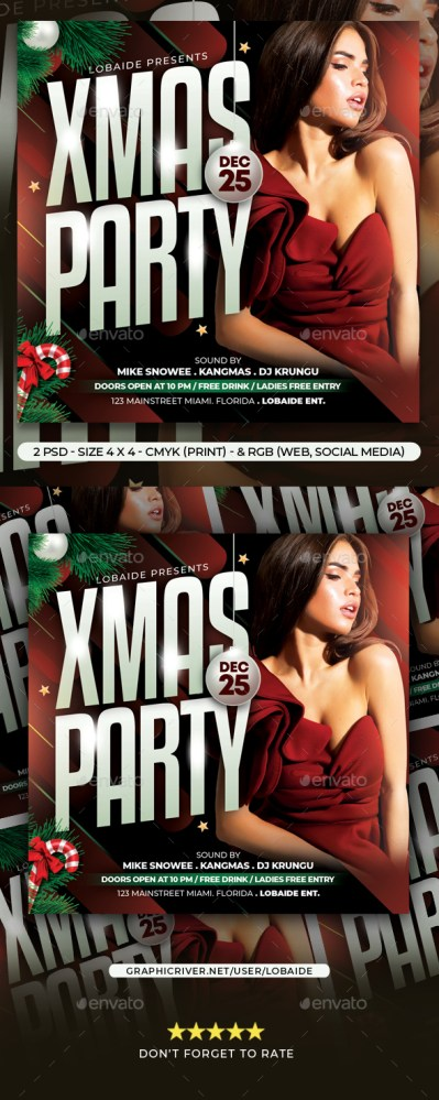 Flyers PSD – Christmas Occasion Flyer – Download