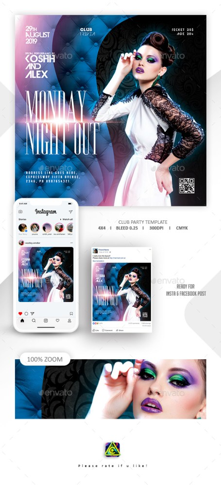 Flyers PSD – Club Glean together Flyer – Download