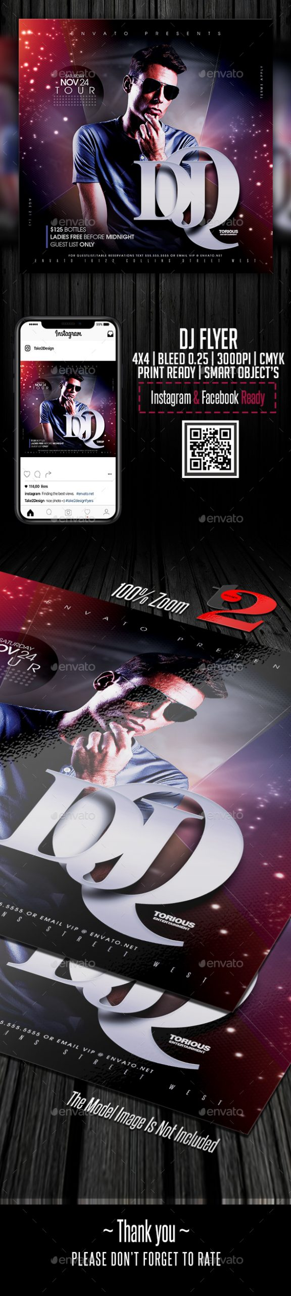 Flyers PSD – Dj Tour Flyer Template – Download
