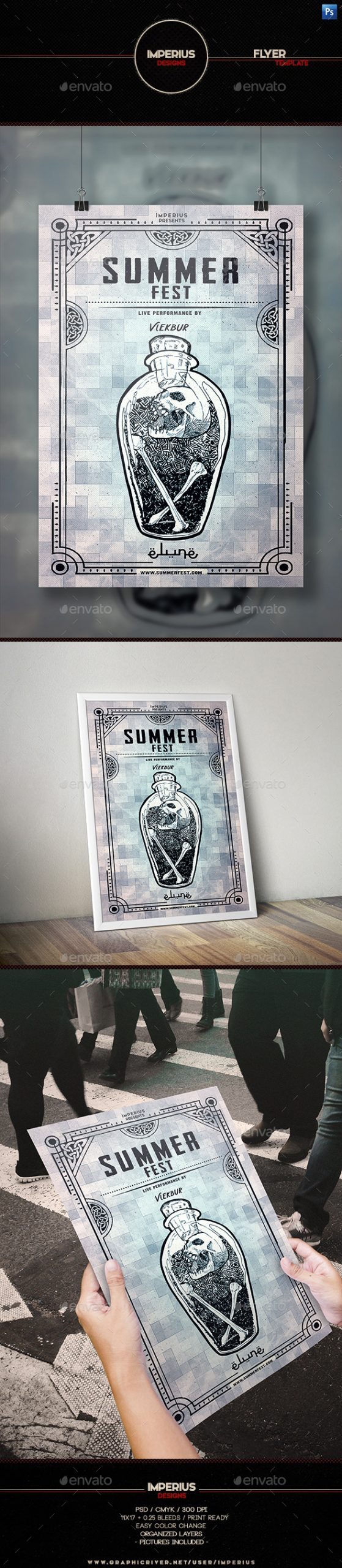 Flyers PSD – Summer time Fest Flyer Template – Download