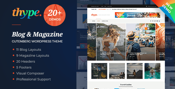Thype | Multi-Thought Weblog & Magazine WordPress Theme – WP Theme Download