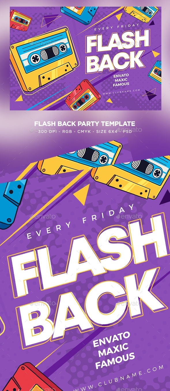 Flyers PSD – Flash Again Flyer – Download