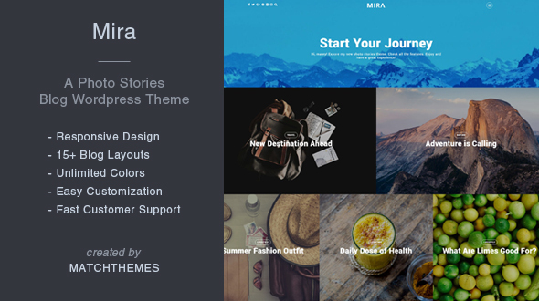Mira – A Photo Tales Weblog WordPress Theme – WP Theme Download