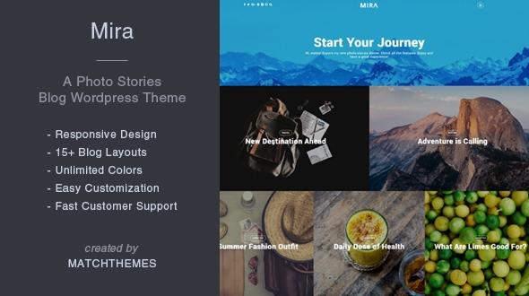 Mira – A Photograph Reports Blog WordPress Theme – WP Theme Download