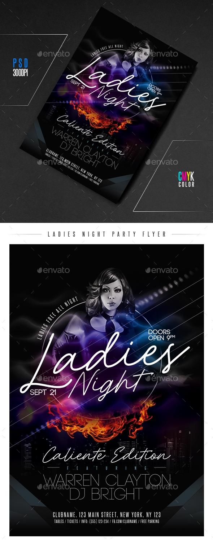 Flyers PSD – Females Night Celebration Flyer – Download