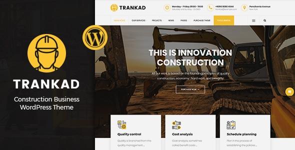 Trankad – Building WordPress Theme – WP Theme Download