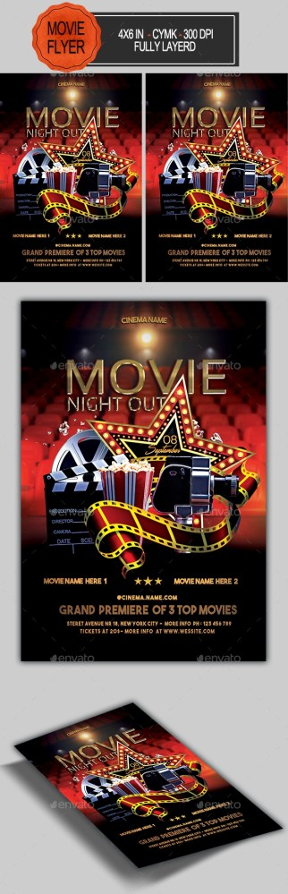 Flyers PSD – Movie Night Flyer – Download