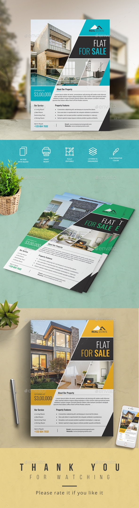 Flyers PSD – Sincere Estate Flyer – Download