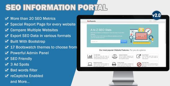 SEO Information Portal – PHP Script Download
