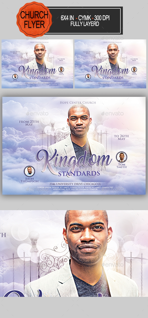 Flyers PSD – Kingdom Standards Church Flyer – Download