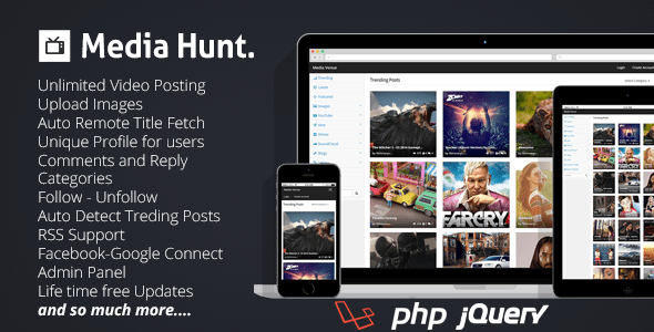 Media Hunt : Media Sharing Community Script – PHP Script Download