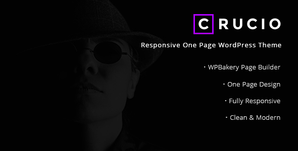 Crucio – Responsive One Net page WordPress Theme – WP Theme Download