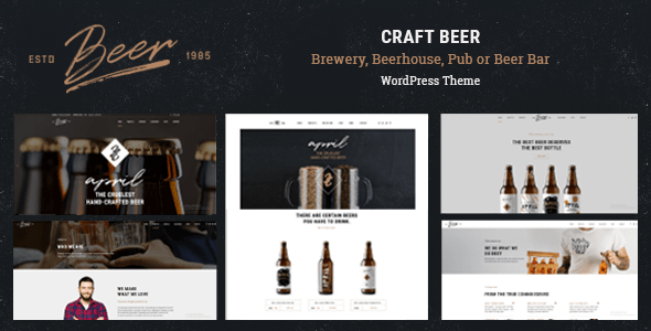 Craft Beer – Brewery & Pub WordPress Theme – WP Theme Download