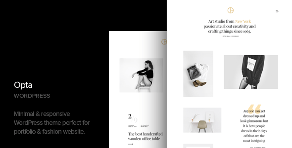 Opta – Minimal Portfolio and Pictures WordPress Theme – WP Theme Download