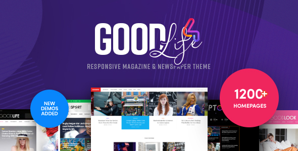 GoodLife – Magazine & Newspaper WordPress Theme  – WP Theme Download