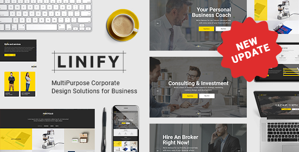 Linify – Multipurpose Company WordPress Theme – WP Theme Download