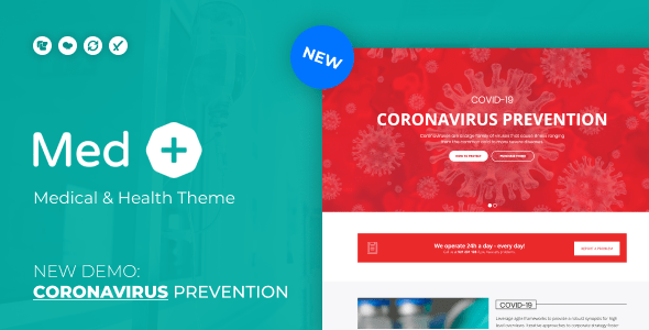 MedPlus – Coronavirus Prevention WordPress Theme – WP Theme Download