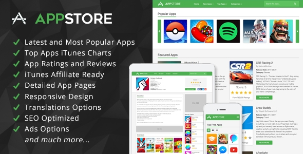 AppStore – iOS Apps iTunes Affiliate Script – PHP Script Download