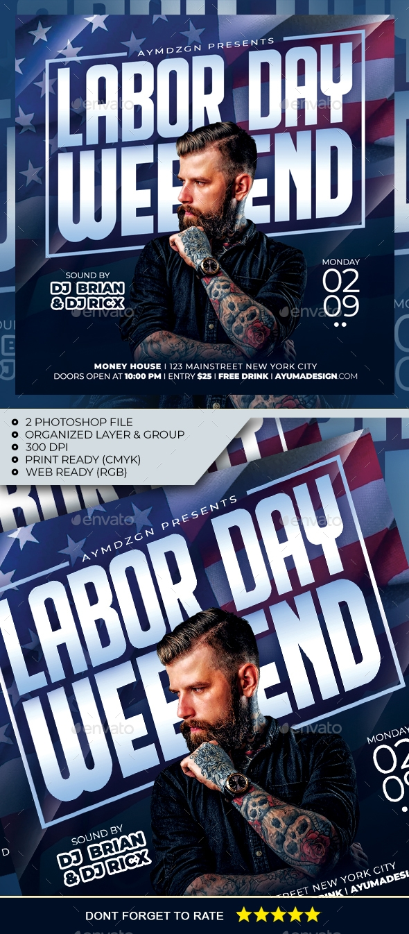 Flyers PSD – Labor Day Weekend Flyer – Download