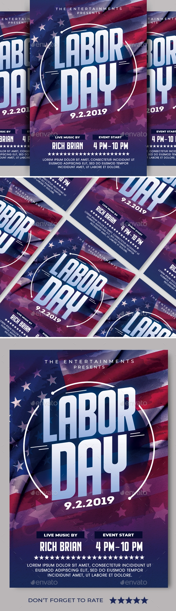 Flyers PSD – Laboured Day Flyer – Download