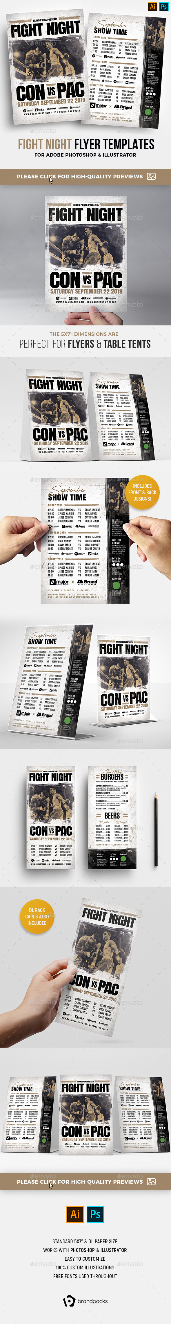Flyers PSD –  / Fights Night Flyers – Download