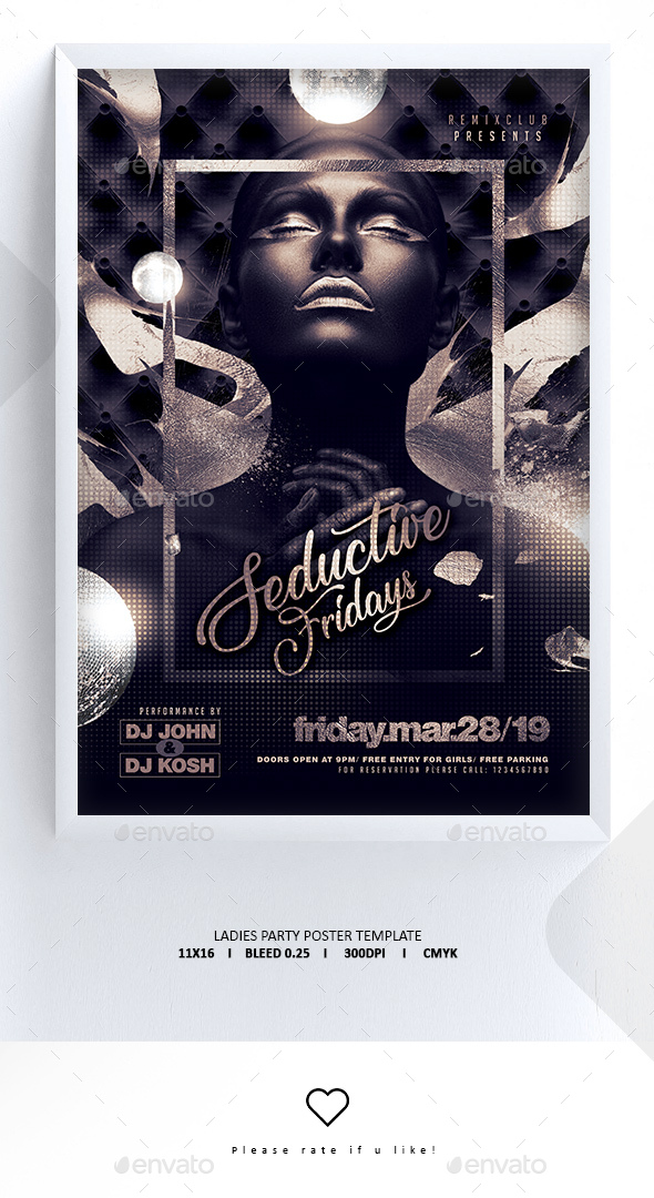 Flyers PSD – Lady Nighttime-time Poster – Download