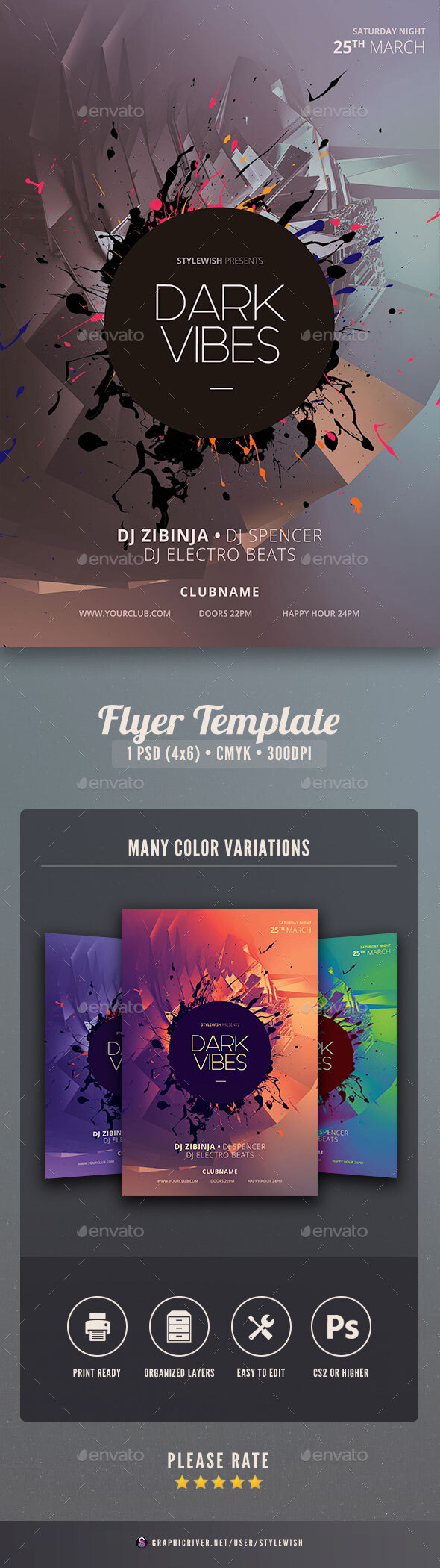 Flyers PSD – Dusky Vibes Flyer – Download