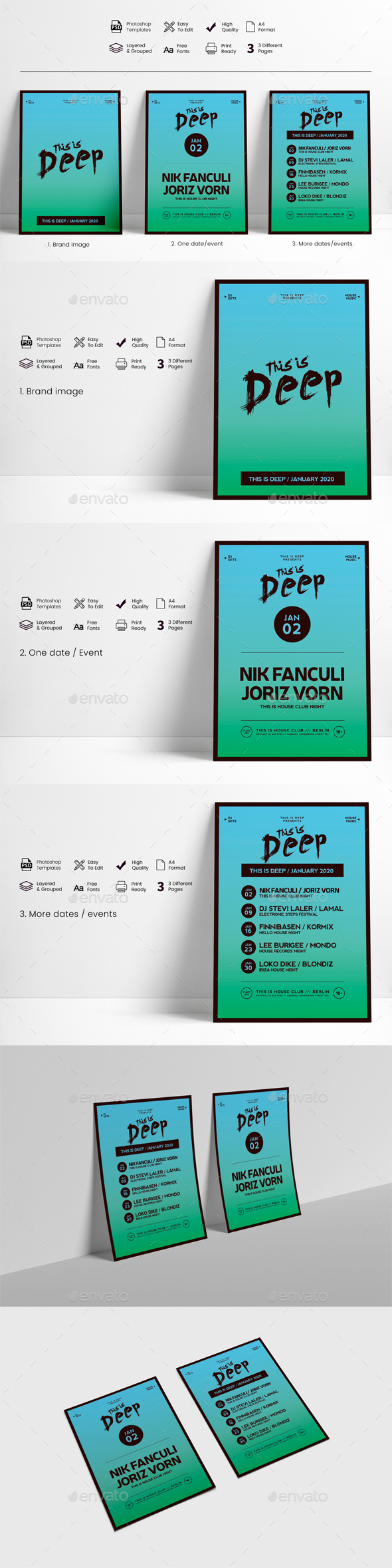 Flyers PSD – This Is Deep Match and Festival Flyer – Download