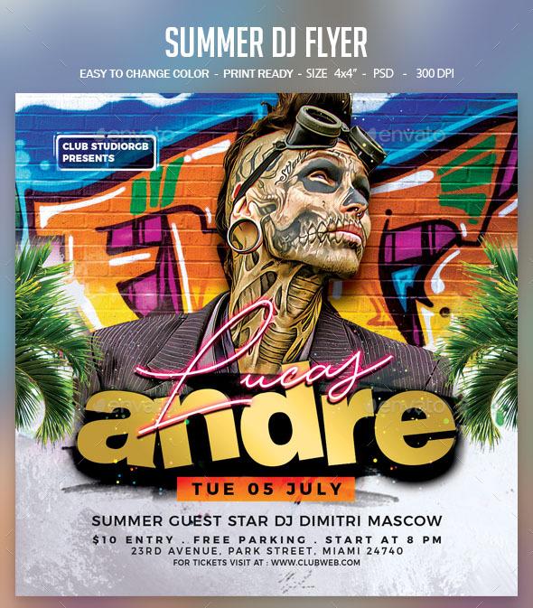 Flyers PSD – Summer Dj Flyer – Download