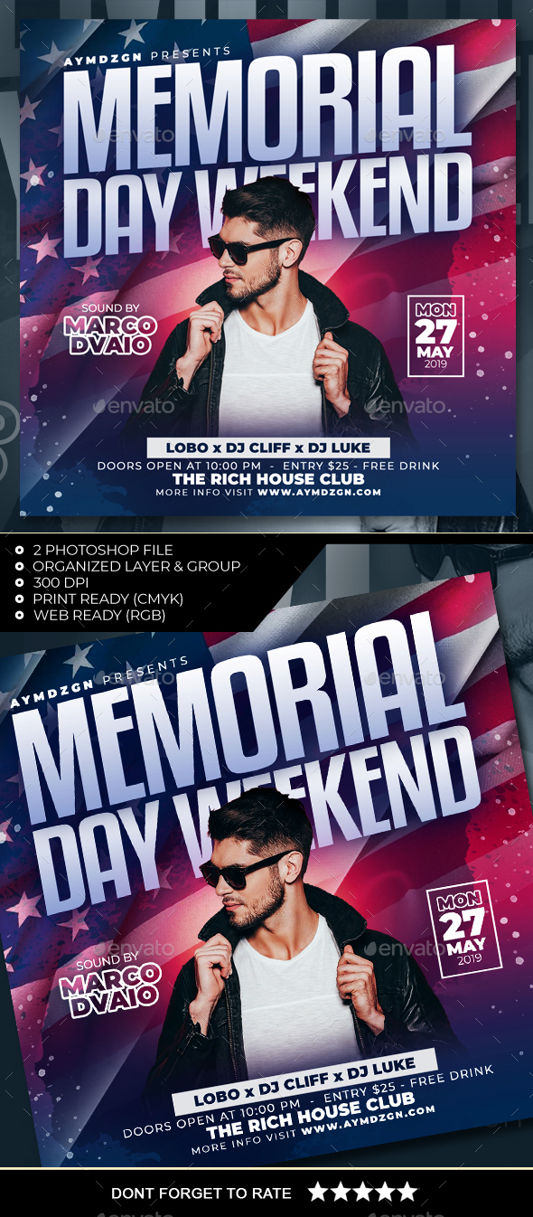 Flyers PSD – Memorial Day Weekend Flyer – Download